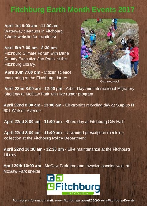Fitchburg Earth Month Events 2017
