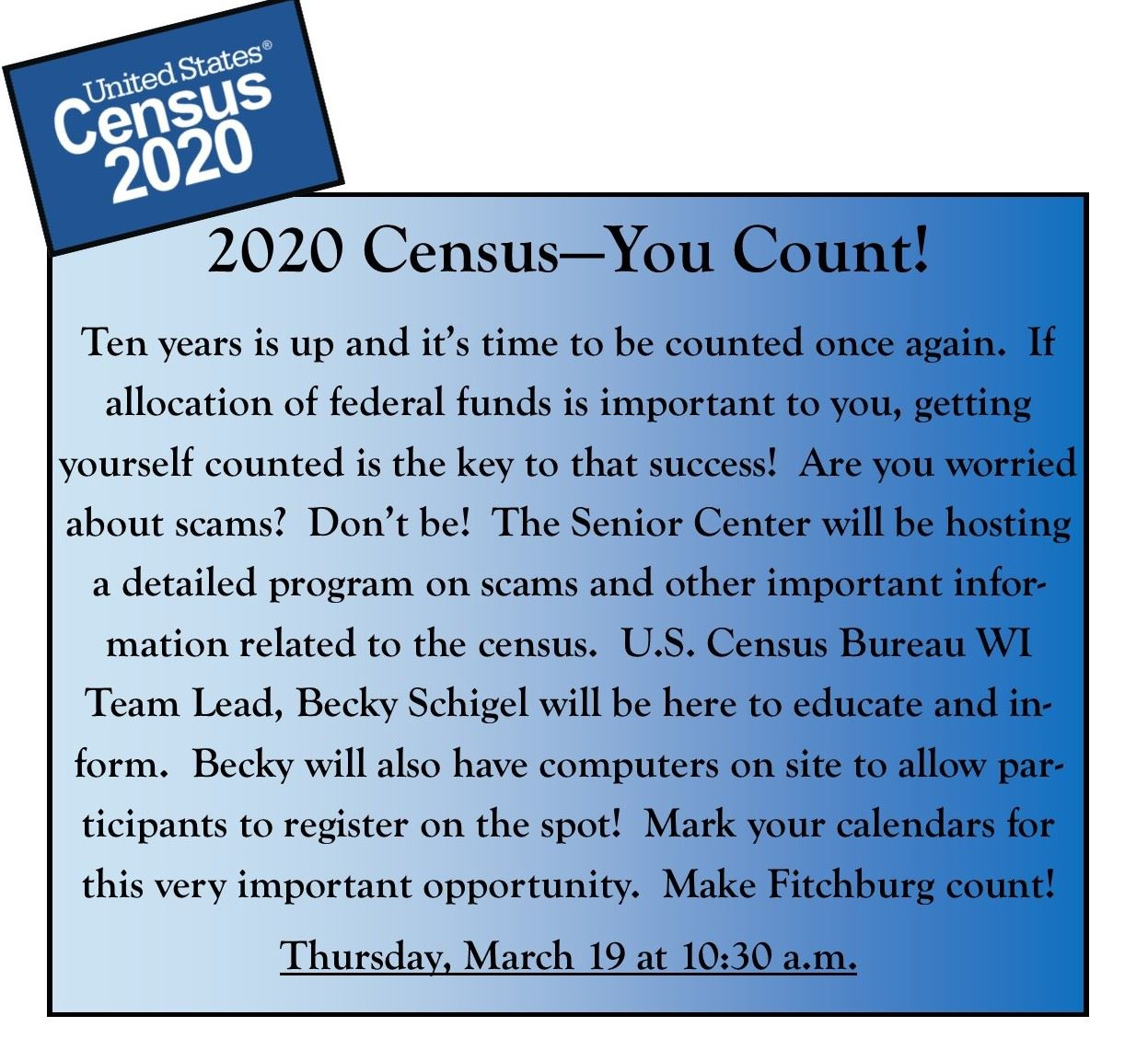 Census Website Flier