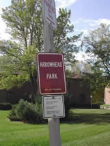 Arrowhead Park Sign