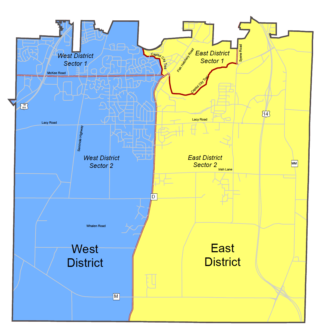 Police District Map